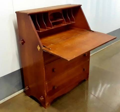 Midcentury Secretary Desk dresser with Drop Down Front Writing Tablet