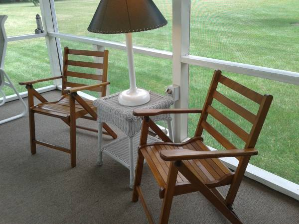 Antique Folding Porch Chairs circa 1920-30