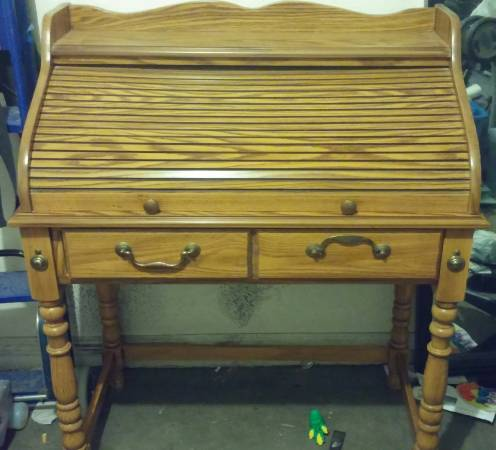 Antique Roll-top Secretary Desk