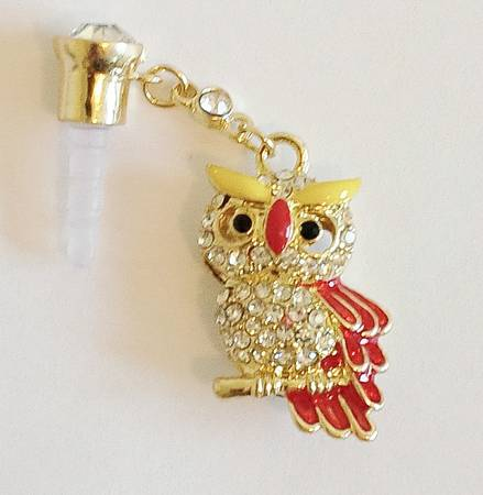 Owl- High Quality Cell Phone Charm