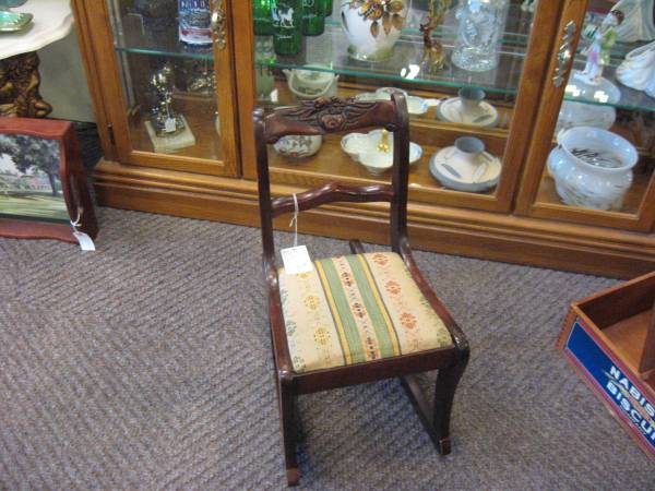 Antique Duncan Phyfe style Childs Rocker