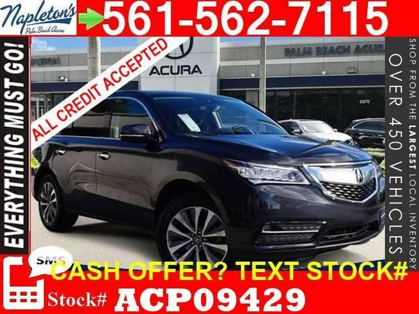 2016 Acura MDX SUV 3.5L FWD Make Offer Bad Credit ok Special Deal