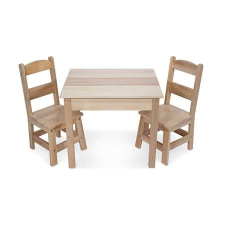 Melissa & Doug Solid Wood Table and 2 Chairs Set (Brand New)