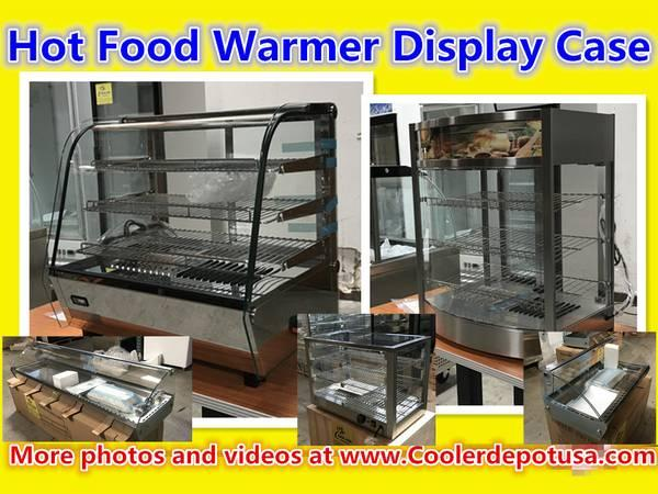 Hot Food Warmer Glass Pizza Display Pizza Pastry Case