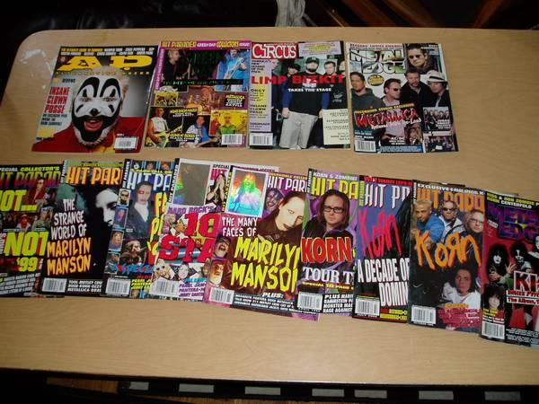 late 90's heavy metal music magazines hit parader