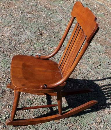 Antique Oak Sewing Chair