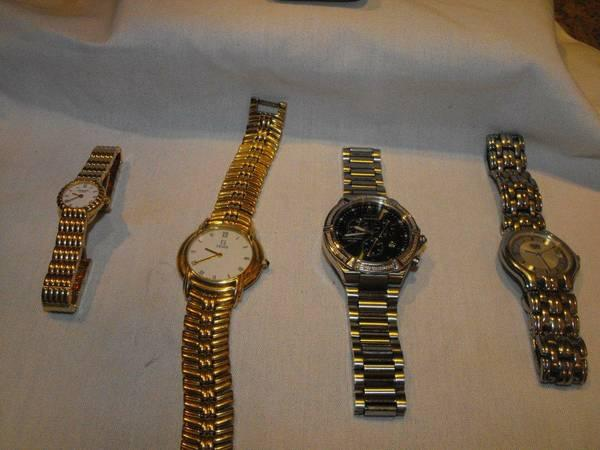 mens, womans  dress/ casual watches, many varieties,  new condition.
