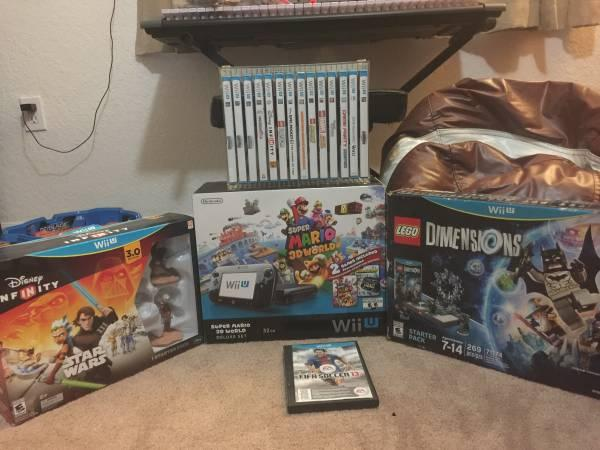 Wii-u super Mario system bundle with lots of games