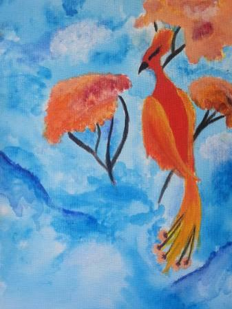Original Paintings Birds of Paradise