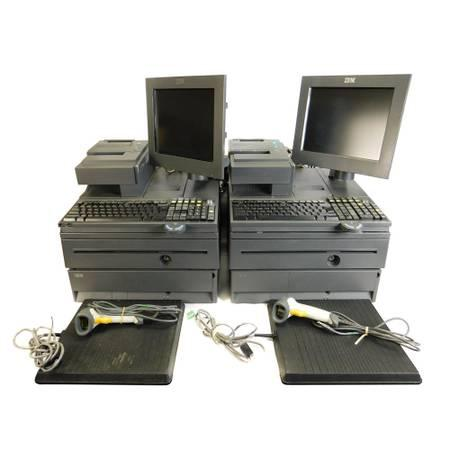 IBM 4800-J22 Point-Of-Sale System Retail Cash Registers w/ Scanners