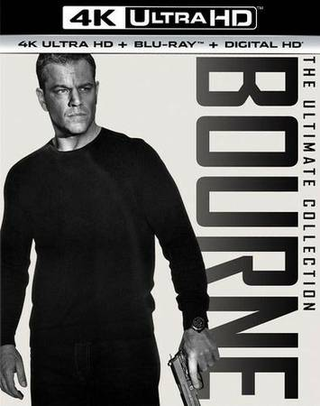 4K UHD Bourne Identity Complete Collection,