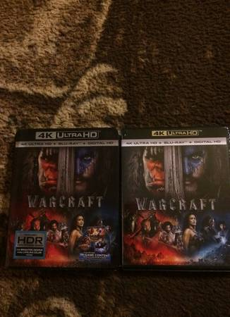 4K UltraHD Warcraft New sealed with slip cover