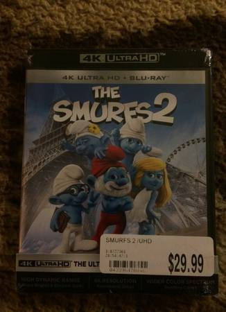 4K ULTRAHD The Smurfs 2 Sealed New Retail Package