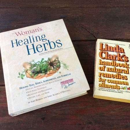 2 books on natural remedies and herbs