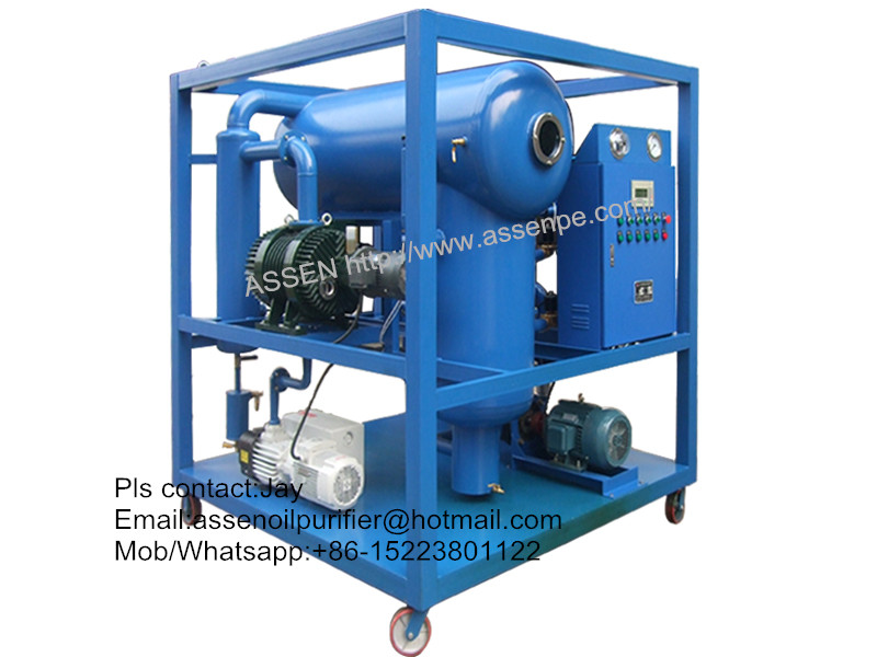 High Performance ZYD Transformer Oil Filtration system Plant