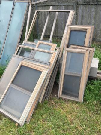 Free Glass Windows/Large Glass, Wood, Fence Etc *All or Nothing*