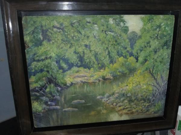 hand painted naturescape in oil