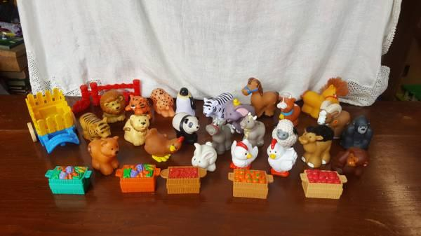 Fisher Price Little People circus, zoo, and farm animals