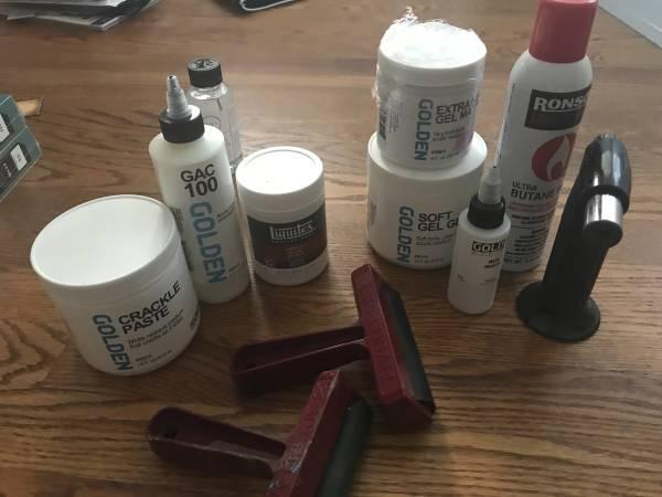 Liquitex, Golden Mediums, Paste, Brayer, Torch ART SUPPLIES