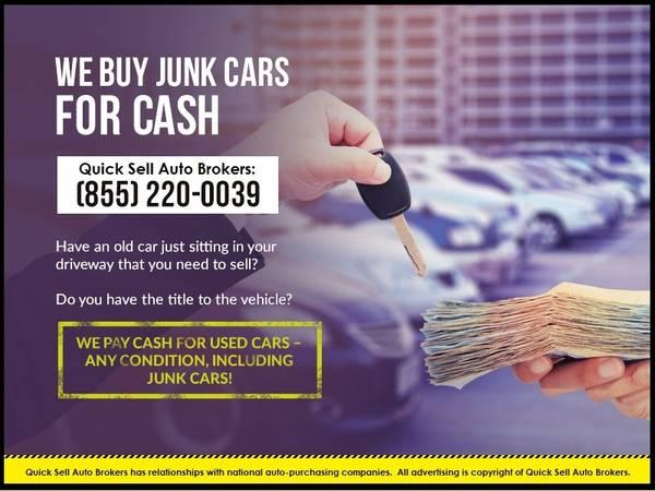 Instant cash for junk cars + free towing!