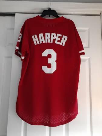 2019 Mitchell & Ness Bryce Harper Jersey Size Mens Medium-Large