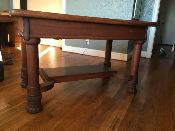 Old  Solid Wood Library Table