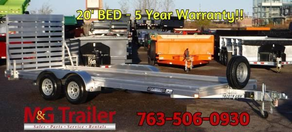 BLOW OUT PRICE! Aluma 7820 Wood Deck Utility Trailer!