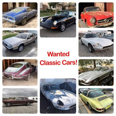 WANTED Classic Muscle & European Cars!