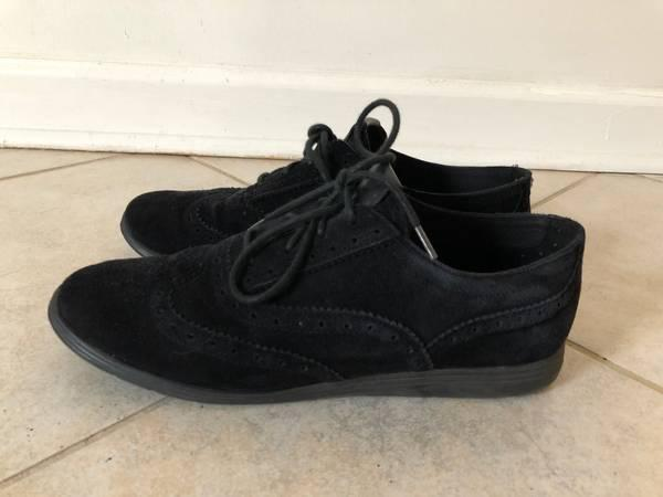 Cole Haan Womens Shoes Grand Tour Oxford Black Suede Size 8
