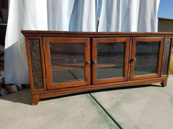 Long low TV stand entertainment center