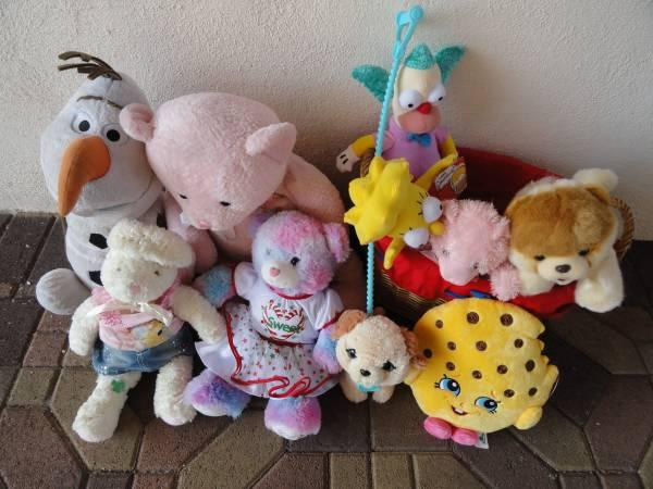 * Mixed lot of (10) Large Plush stuffed Animal bears toys all for